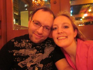 Mike and me at the Pink Door