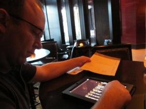 Their menu was on an iPad!