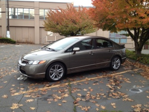 Our new car Storm.  2008 Honda Civic SI.  6-speed manual transmission.