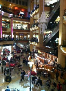 The mall gearing up for Christmas!