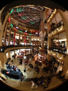 Christmas lights at the mall