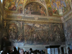 Nope... not the Sistine Chapel.  Just another random chapel on the way to the Sistine Chapel