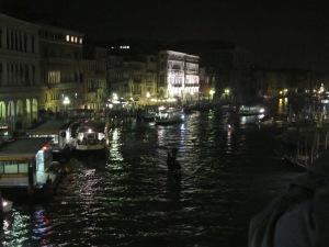 From the Rialto bridge at night