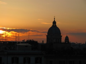 Sunset at the Spanish Steps