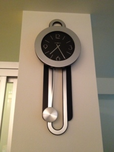 Mike hung our new clock!