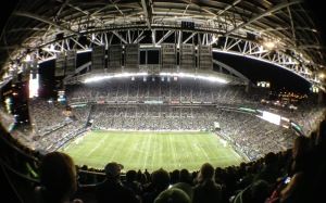 The stadium through Mike's fish-eye lens that makes everything look like an easter egg.  :)