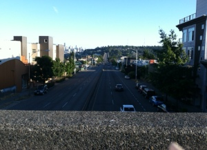 Looking down at I-99