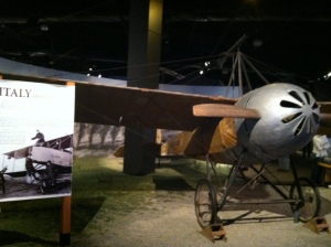 A WWI Italian plane... how did people fly in these???  They look like tin cans with wings!