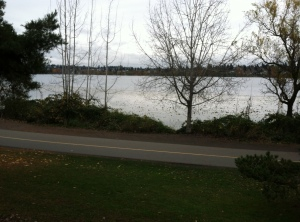 Green Lake on a cloudy Sunday evening