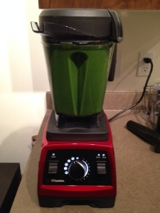 First green smoothie in the Vitamix!