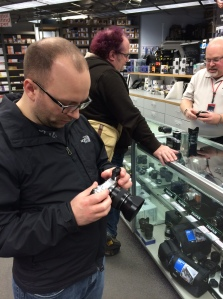 Mike at a camera store