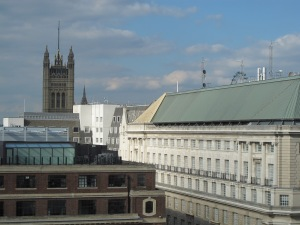 We could see the top of the parliamentary building from our room!