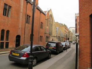 Very narrow streets and lots of brick buildings!
