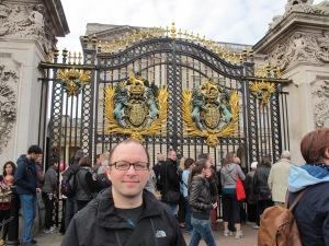 The gates of Buckingham Palace