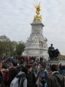 The Victoria Memorial outside of Buckingham Palace