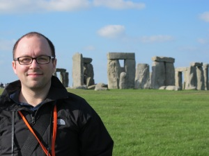 Mike... with Stonehenge in the background!
