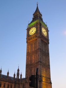 Big Ben at twilight