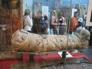Um... this is a very real, very old mummy