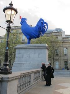 Um... a giant blue chicken