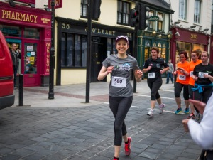 Running down Main Street in Killarney!
