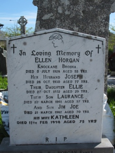 There were Horgans there... probably relatives!