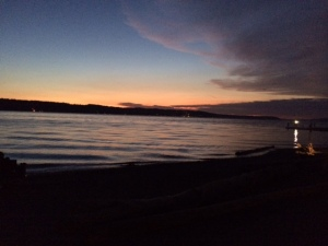Sunset at the Puget Sound