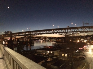 Love this bridge at night! (Or, you know, 4:30pm)