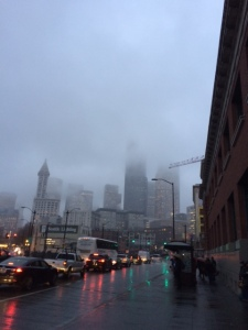 Seattle rain and fog. This is what we're known for. This and coffee.