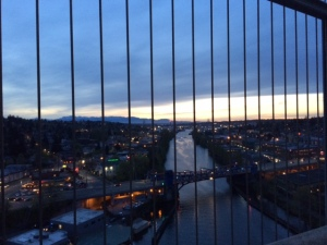 Crossing the Aurora Bridge at dusk... I love my neighborhood!