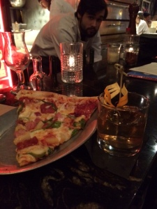Pizza and old-fashioneds.... yum!