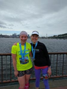 After the race in front of Lake Union!