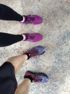 Our shoes are ready for some trail miles! Eight, to be exact.