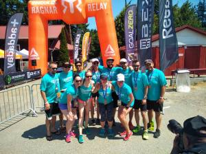 Official finish line pic for our team of 12