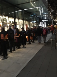 The line for the Amazon Go store!